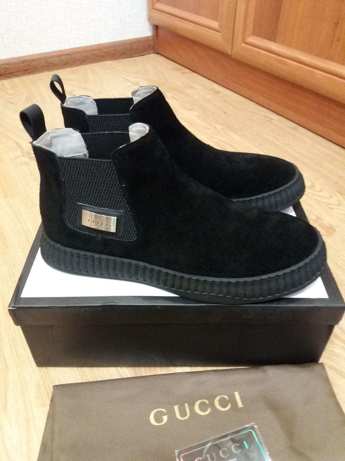 Gucci ботинки 41 42 43 мужские замшевые челси Гуччи купить в Украине