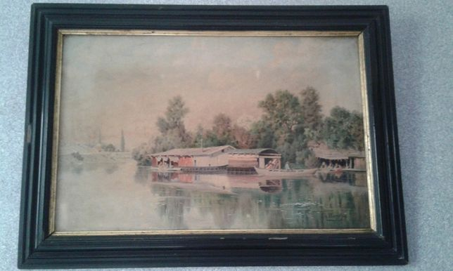 Продам стариную картину французского художника Месгриньи