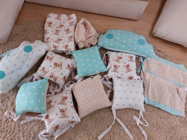 Бортики подушечки в детскую кроватку, защита в детскую кровать
