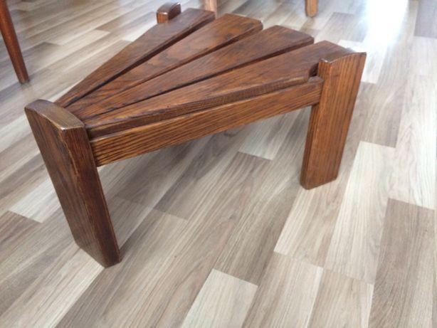 Dębowe stołki/podnóżki