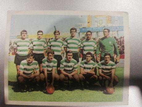 Cromo da equipa do SPORTING, 1967/68