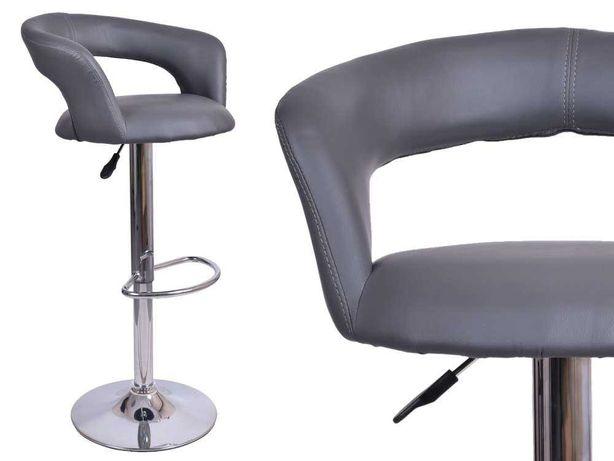 krzesło obrotowe Malibu szary wygodny hoker do kuchni jadalni