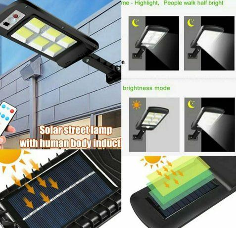Lampa latarnia Led 120 czujnikiem ruchu I zmierzchu
