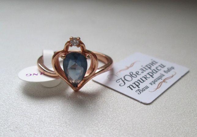 Кольцо из медицинского золота с фианитом