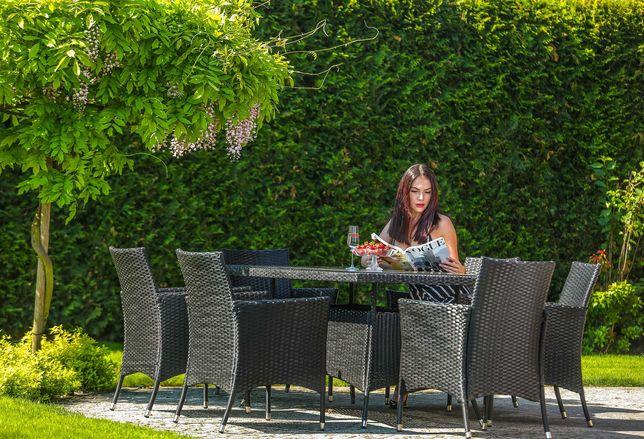 Zestaw mebli ogrodowych technorratan stół krzesła komplet ogród
