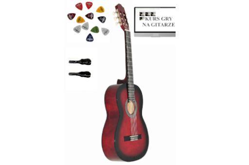 Gitara Klasyczna AMBRA VIVA 3/4 +kurs+3piórka+pokrowiec DARMOWA WYSYŁK