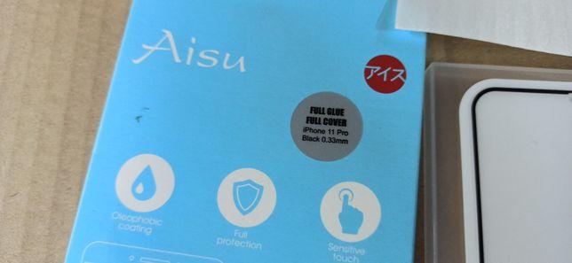Защитное стекло i phone 11 pro. Cover  aisu 9H glass