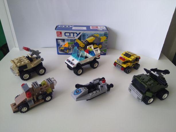 Машинки по типу конструктора Lego.