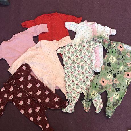 Бодики на девочку, детская одежда 0-6 месяцев