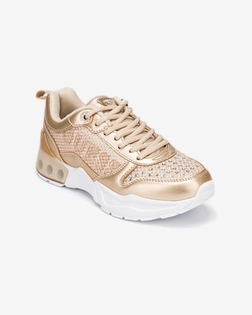 Sneakersy Guess Tandey złote 37