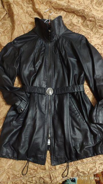 Кожаная куртка ,размер 44 xl
