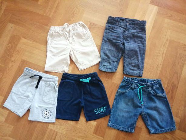 krótkie spodnie spodenki H&M 104 stan bdb - 5 sztuk