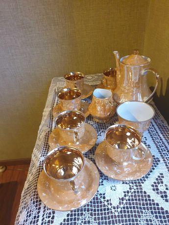 Złoty serwis kawa/herbata Chodzież