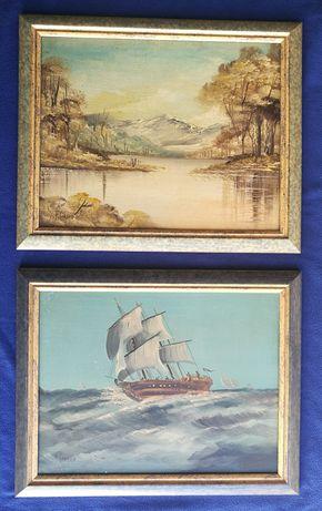 Dois quadros do pintor T. Cardoso