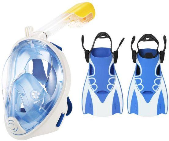 Ласты для плавания + Полнолицевая маска. 2в1