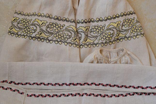 Старовинна рідкісна вишита жовтим сорочка вишиванка вышиванка старинна