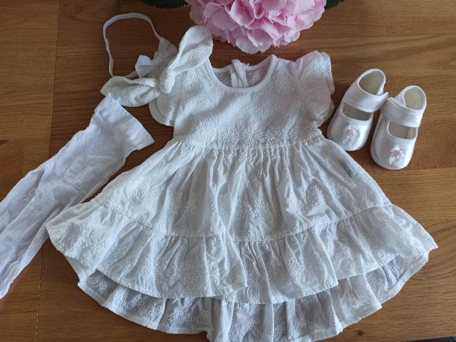 Komplet sukienka do chrztu rozmiar 62/68 Gdańsk - image 1