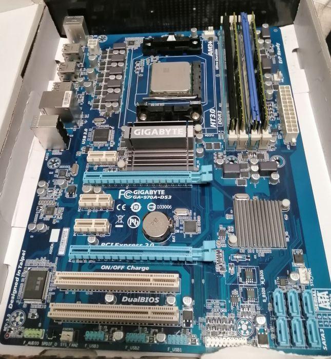 Сборка на АМ3+, FX4130 +GA-970A-DS3 (6000руб) Донецк - изображение 1