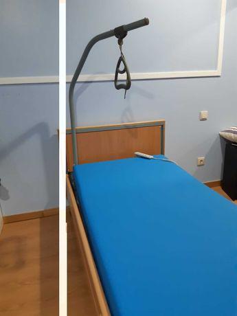cama articulada elétrica e colchão anti escaras em estado de novos