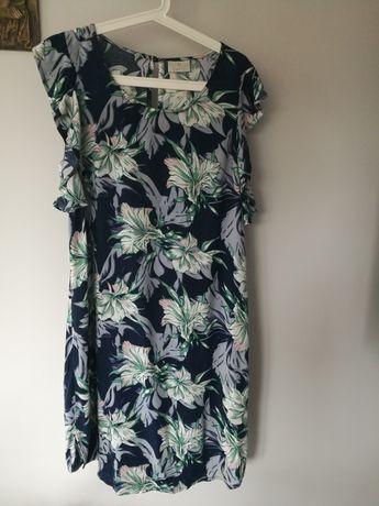 Sukienka w kwiaty na lato, letnia, rozmiar XL, L pastelowa Kaffe