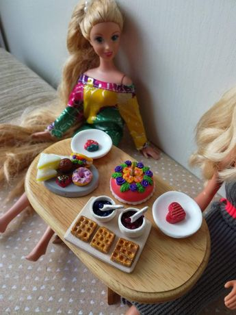 Barbie, schleich, maileg, dollhouse, jedzenie, gadżety