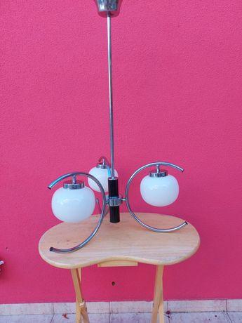 Candeeiro de tecto Vintage anos 60 com 3 globos