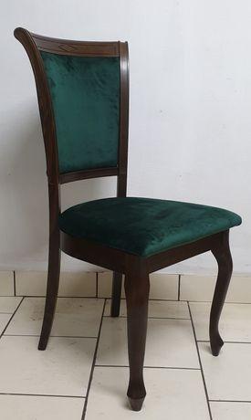 Nowe krzesła 10 sztuk Ludwik Reno zielen butelkowa