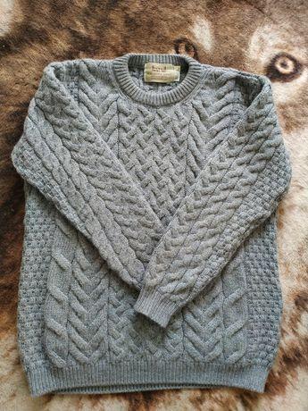 Aran sweater мужской теплый шерстяной свитер. Ирландия.