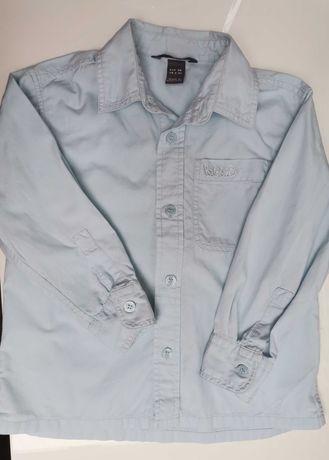 Elegancka błękitna koszula r. 104 H&M