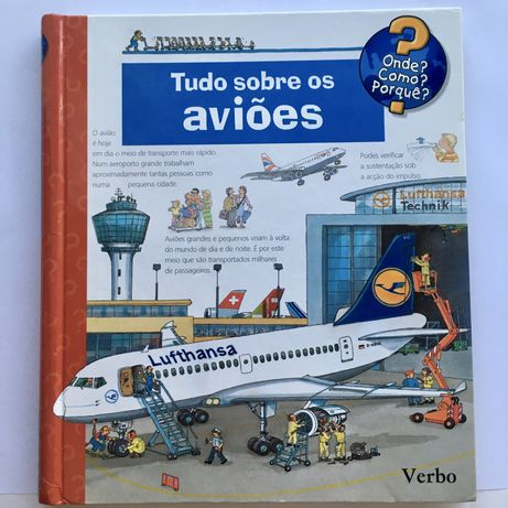Álbum Tudo sobre Aviões - Verbo (abas puxar e levantar)