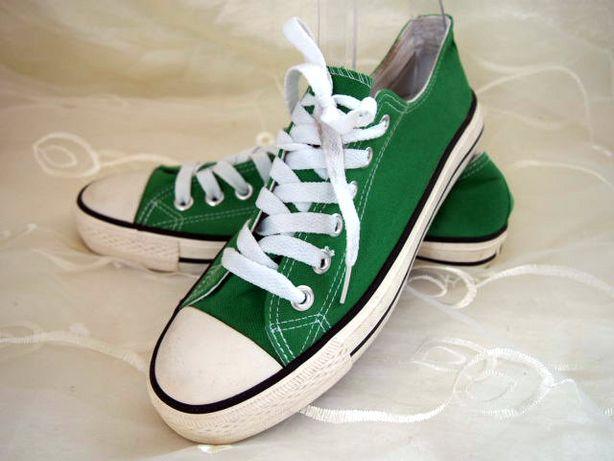 Zielone trampki All Star 25cm tenisówki skaza converse