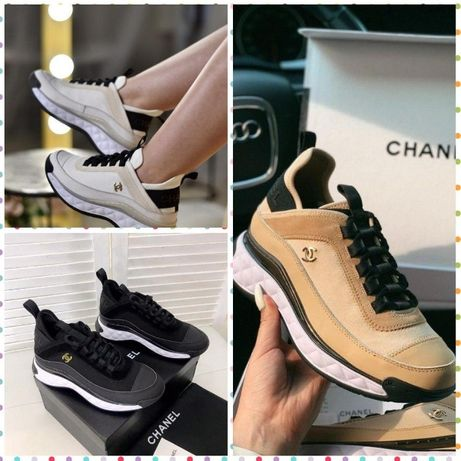 ∎АКЦИЯ Шанель∎ Кроссовки Chanel White∎ Beige∎ Black Супер удобные∎