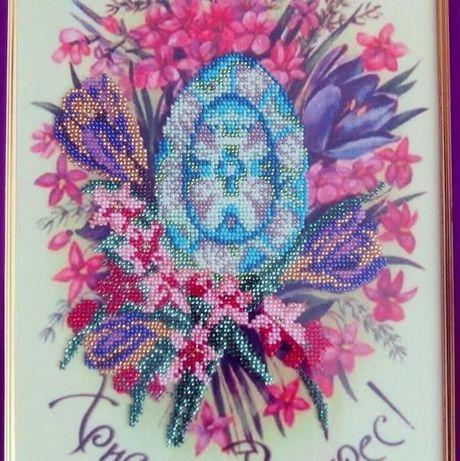 картина бисером на Пасху