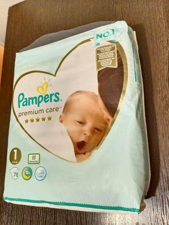 Pampers premium care 1 размер 2-5 кг 78 штук подгузники в роддом