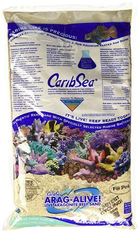 Żywy piasek CaribSea Arag-Alive Fiji Pink 9kg akwarium morskie