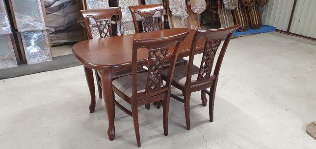 Okazja Stół rozkładany + 4 krzesła