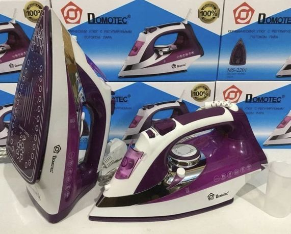 Новый утюг Domotec 2200 Вт паровой / керамическая подошва / праска