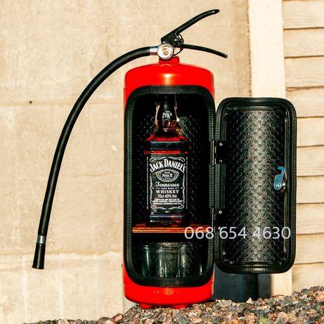Огнетушитель бар с подсветкой на пульте. Подарок на 14 и 23 февраля!