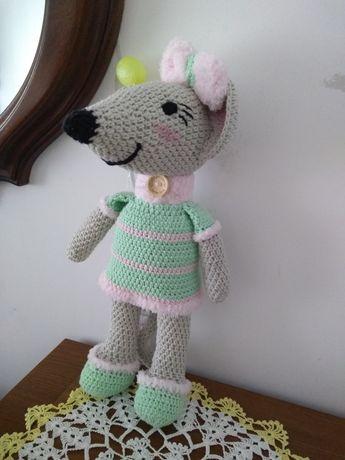 Myszka amigurumi, przytulanka ,ręcznie robiona,prezent dzień dziecka,