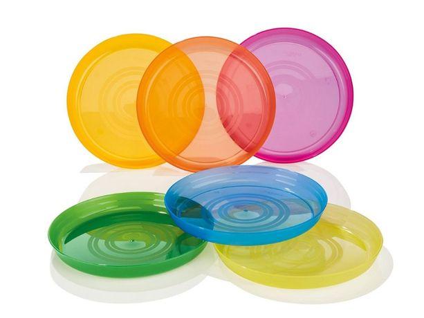 Пластикові тарілки Ernestо 6 шт Німеччина, пластиковые тарелки многора