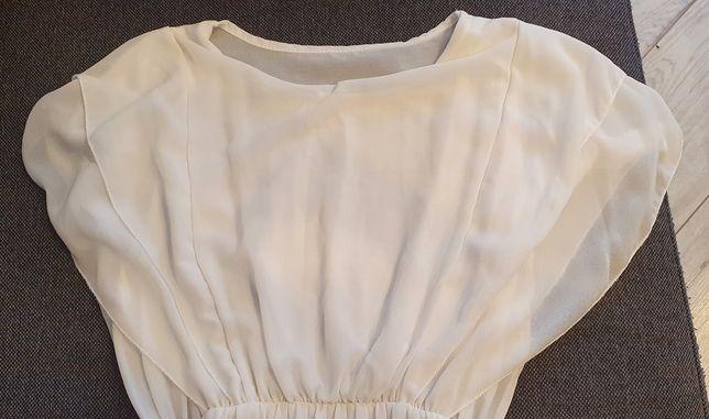 Sukienka na lato śmietankowa biała 36 38 S M