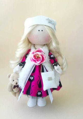 Кукла ручной работы,блондинка с длинными волосами. Лялька