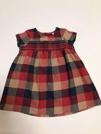 Платье Next 9-12 месяцев 74 см нарядное теплое зимнее
