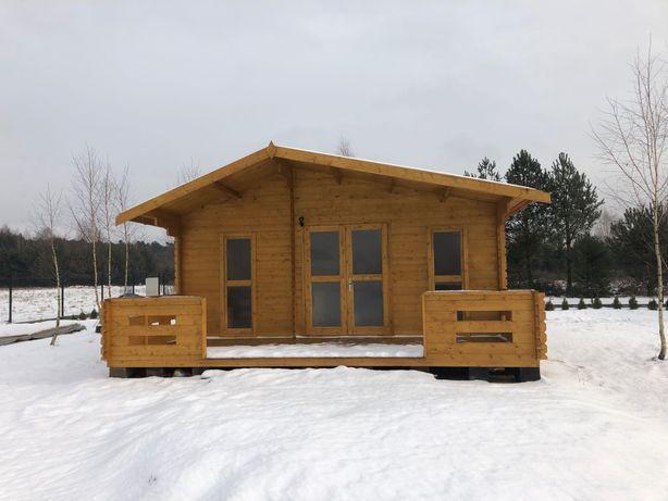 dom domek drewniany letniskowy całoroczny montaż cały Kraj