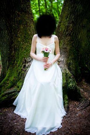 suknia ślubna ecru muslinowa długa typ grecki