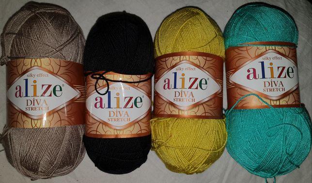 Alize diva stretch микрофибра пряжа для купальников
