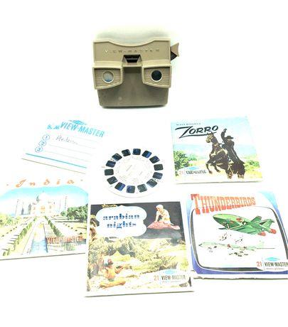Binoculo view master com fotos 3D
