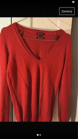 czerwony sweterek massimo dutti