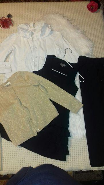 Сарафан школьный блуза брюки кофта Silver spoon Crazy 8 122 128 пиджак