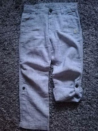 Spodnie r. 116 H&M len 2w1  nowe, bermudy